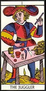 the juggler on tarot card